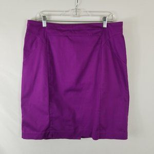 Worthington Purple Pencil Straight Skirt